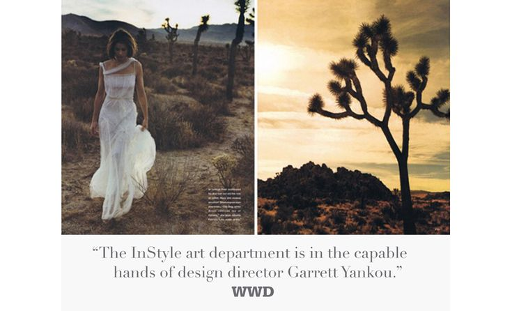 "Publication: InStyle Magazine Creative Director: Garrett Yankou Story: ""New Frontier: A Trip to Joshua Tree with Amanda Peete"" Photographed by John Huba"