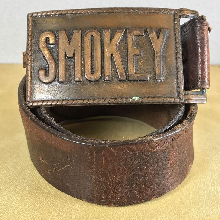 Vtg Antique Smokey Bear Forest Service US DEPT Agriculture USFS Belt & Buckle  | eBay