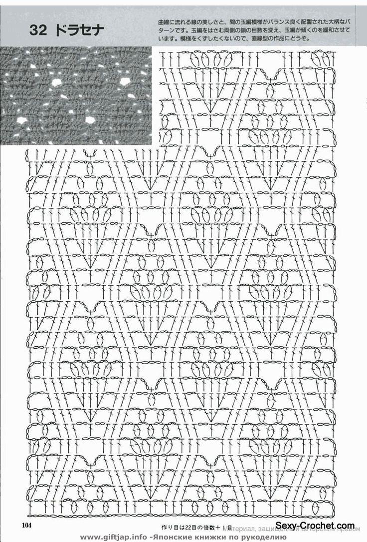 ... Crochet Com, Crochet Stitches Charts, Crochet Pattern, Crochet Charts