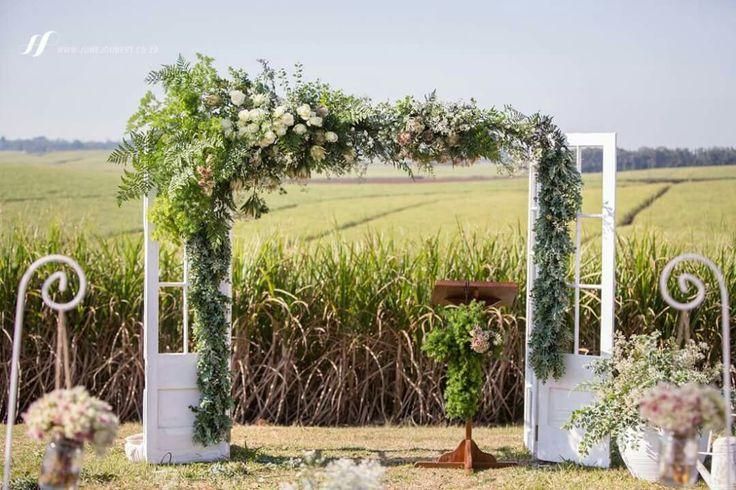 #farmweddings Ceremony wedding doors #Zululandweddings #southafrica #eshowe