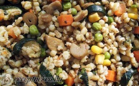Zöldséges árpagyöngy recept fotóval