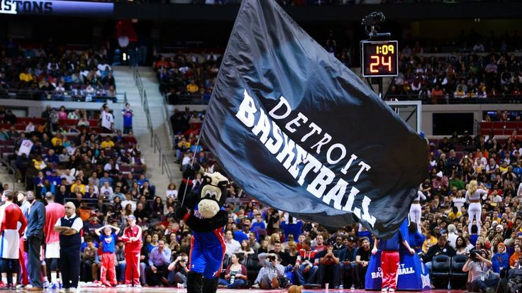 The Detroit Pistons about to win a huge game in their own arena