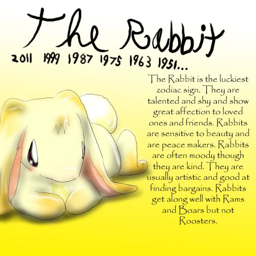 Zodiac The Rabbit by Dei--dara.deviantart.com on @deviantART  Brett, & Blake are both rabbits