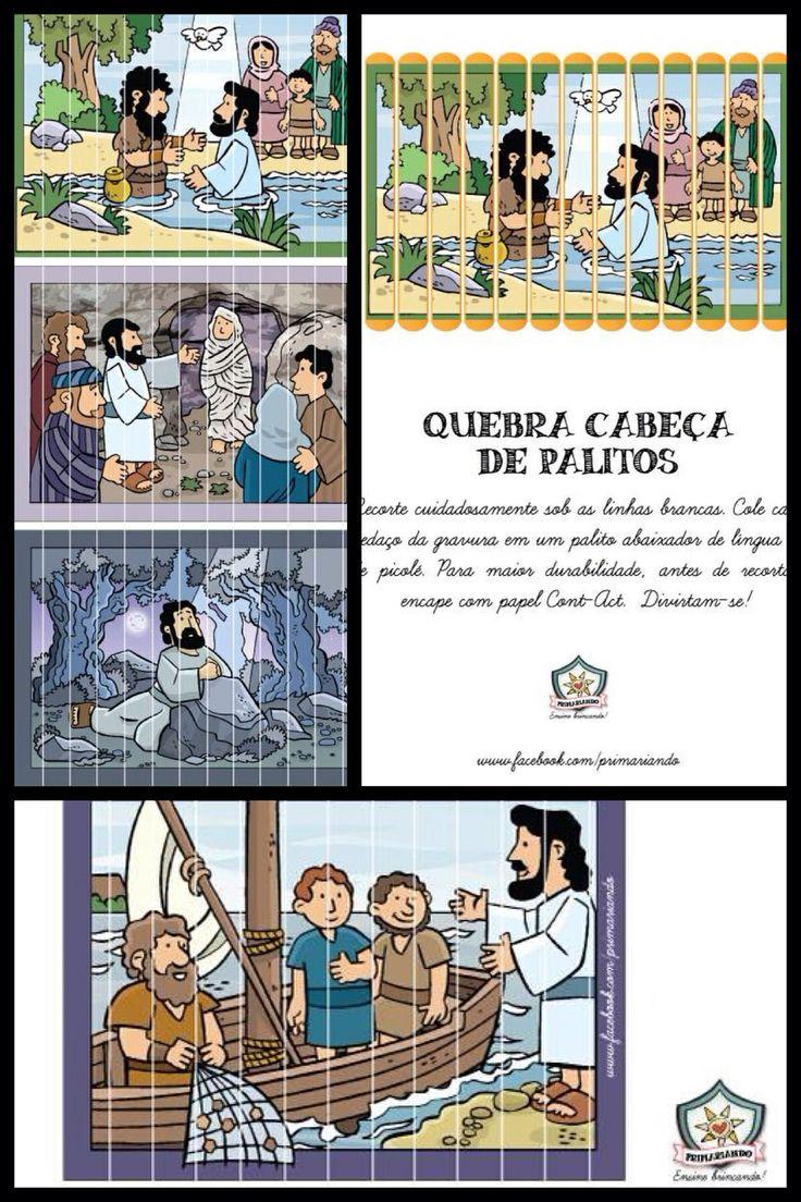 A vida de Jesus em quebra cabeças de palitos!! Curta www.facebook.com/primariando e baixe o PDF grátis!!