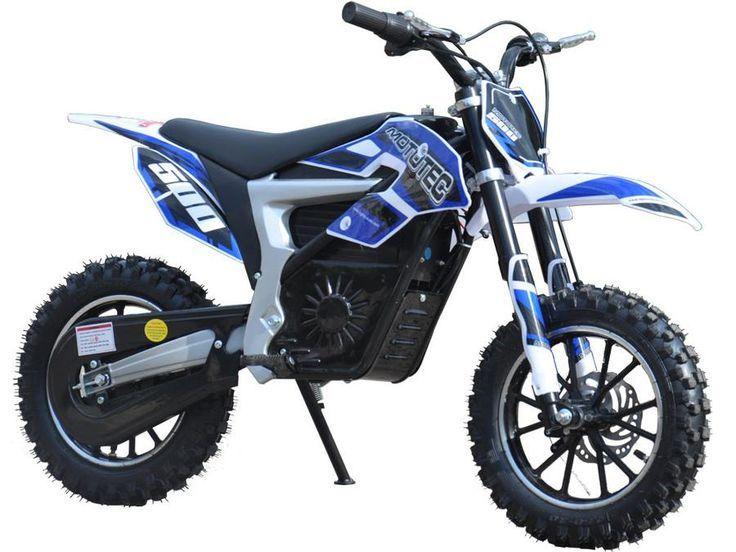 36v Electric Dirt Bike 500w Lithium By Mototec Blue Front View Dirt Bikes For Kids Electric Dirt Bike Dirt Bikes