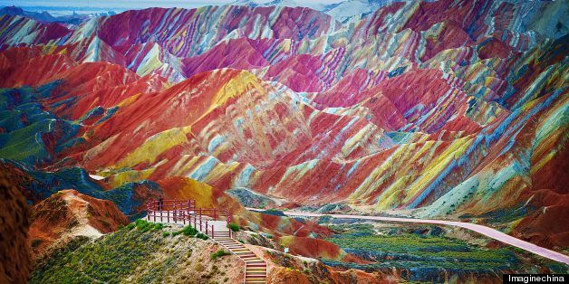 LOOK: These Rainbow Mountains Actually Exist!