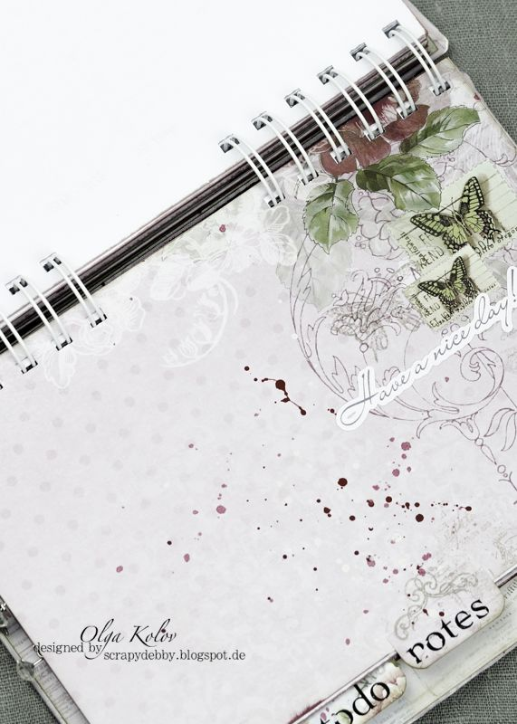 ScrapBerry's: Olga Kolov made a wonderful project: a planner featuring the 'Butterflies' collection. The planner is A5-sized and contains months, weeks, to do, notes and sketches sectors.