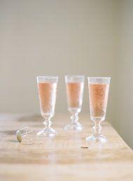 St. Germaine + brut rose'+ glass rimmed with lavender sugar