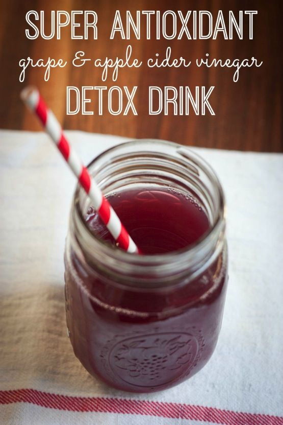 Super Antioxidant Grape and Apple Cider Vinegar Detox Drink Recipe on Yummly. @yummly #recipe