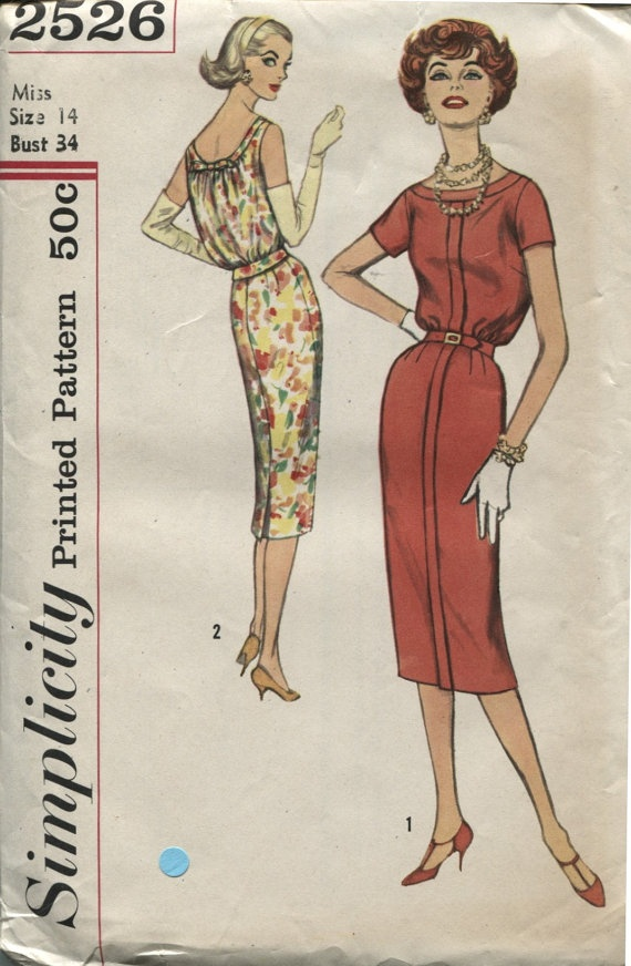 50s Simplicity 2526Vintage Sewing Pattern