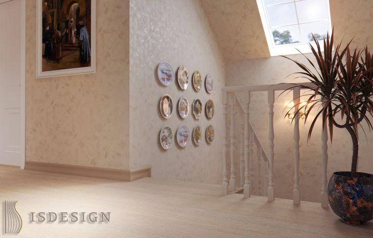 Лестница - Дизайн проект интерьера частного дома в Tachlovice (Прага – Запад) под ключ. Интерьер в классическом стиле. Дизайнер – Инна Войтенко. Строительные, отделочные, монтажные работы – компания ISDesign group s.r.o.
