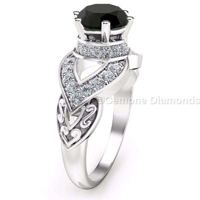 This ring Perfect Gift if you will gift to any fashion lovers. Black Diamonds are in buzz nowadays.