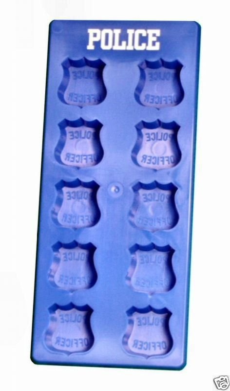 Police Officer department badge cop birthday retirement wedding promotion ice cubes chocolate mold party. $11.99, via Etsy.
