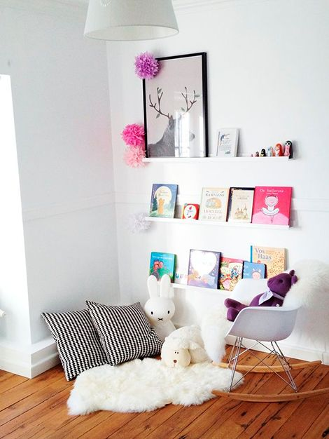Cimaise Bois Ikea : Girls Reading Nook