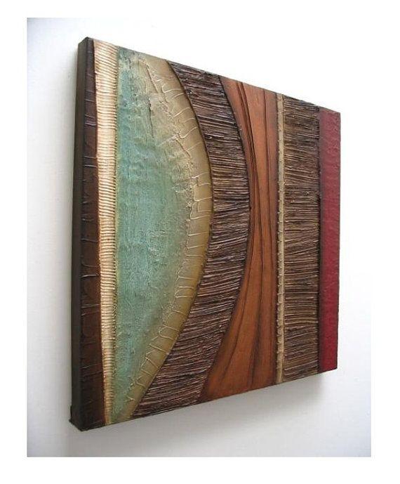 Pared con textura moderna escultura arte original por 360ArtStudio                                                                                                                                                                                 Más