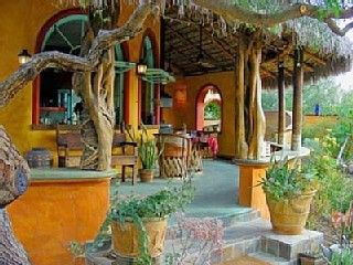 Mexican style verandah in yellow                                                                                                                                                      More