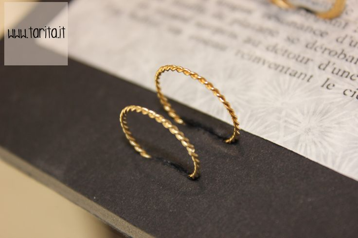"Tarita, ""5 Octobre"". RING BETTIE: Tiny ring made of brass gilded with 24 carats gold. Available in two sizes."
