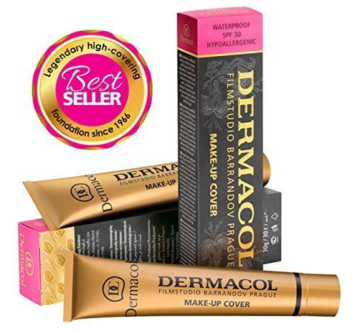 Dermacol Make-up Cover - Waterproof Hypoallergenic Foundation 30g 100% Original Guaranteed from Authorized Stockists (208)  BUY 2 AND GET DERMACOL SATIN MAKEUP BASE 10 ML FREE. Dermacol's official website has a full color swatch available.  There are many unauthentic Dermacol foundations being sold online, we have included instructions below in the description on how to check if you have received the original stock.  It contains 50% pigments, which makes it a weapon against skin imperf...