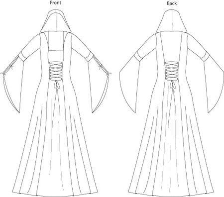 Best 25+ Medieval dress pattern ideas on Pinterest | Simple ...
