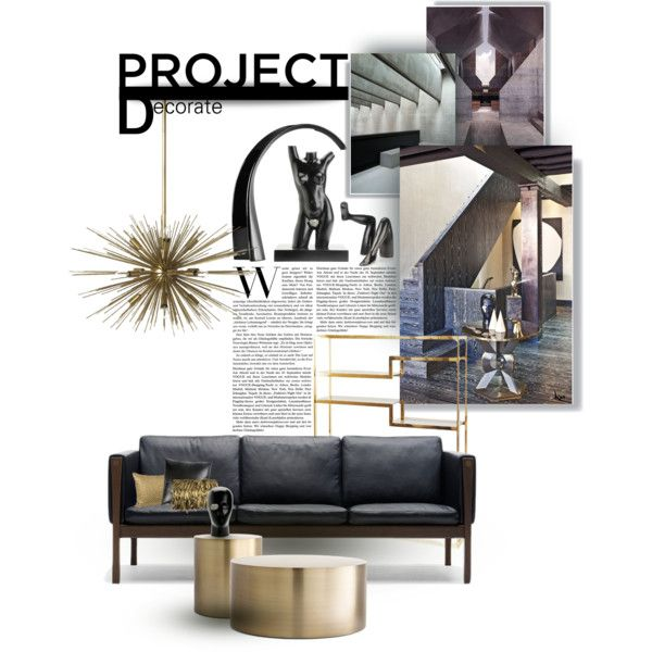 Project Decorate by kat1973 on Polyvore featuring polyvore interior interiors interior design home home decor interior decorating Carl Hansen & Sons Kartell Kelly Wearstler Jayson Home interiordesign decor ProjectDecorate edgyglamour