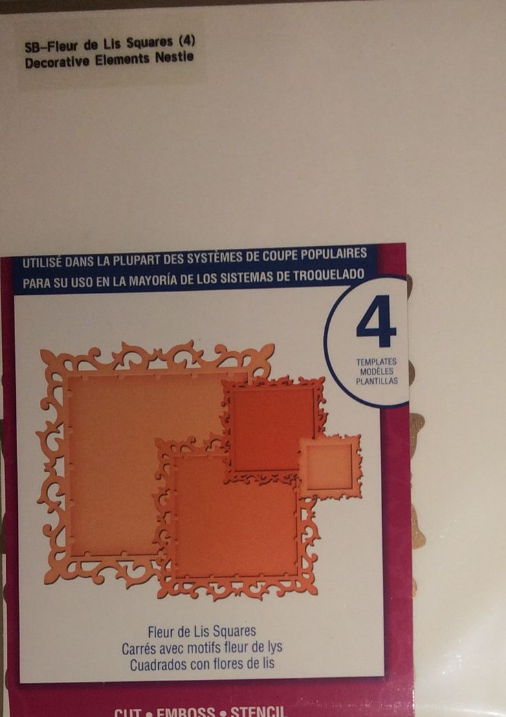 $8 - Spellbinders: Fleur de Lis Squares