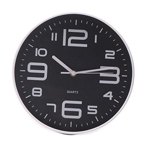 SonYo Indoor/Outdoor Simple Modern Big 3D Arabic Numerals Silent Quartz Non-ticking Wall Clock 14 Inch Black  #Arabic #Black #Clock #Inch #Indoor/Outdoor #Modern #NonTicking #Numerals #Quartz #RusticGrandfatherClock #Silent #Simple #SonYo #Wall The Rustic Clock