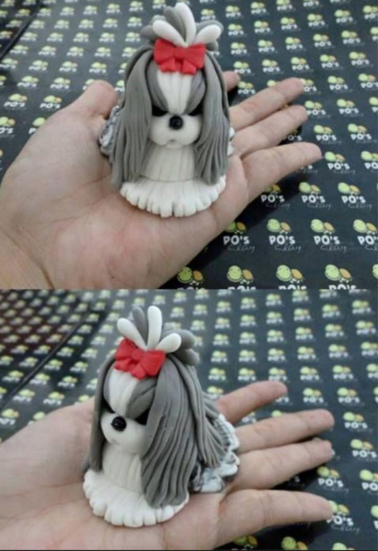 Shih Tzu Cupcake.  I don't know who made it, but it sure is cute!