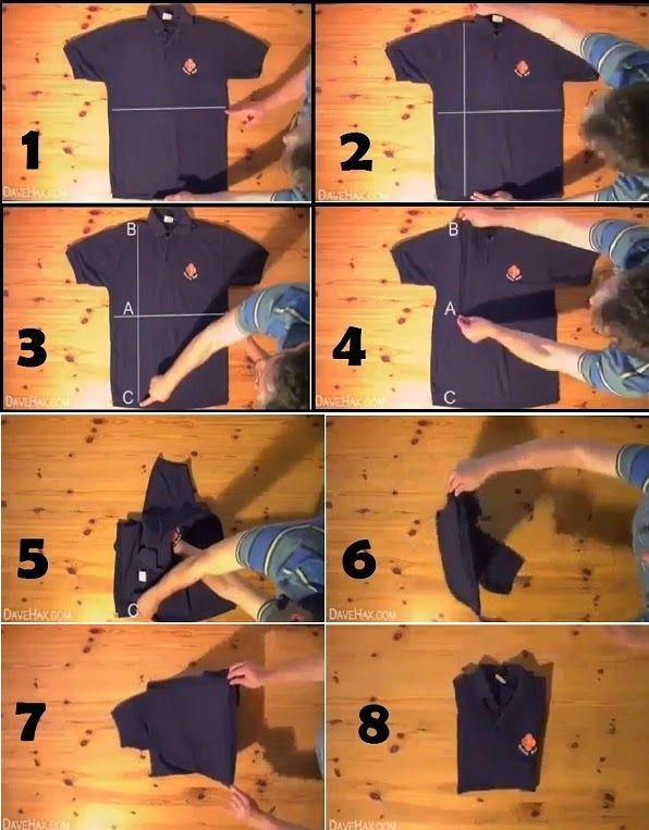 Instrucciones de cómo doblar una camisa correctamente