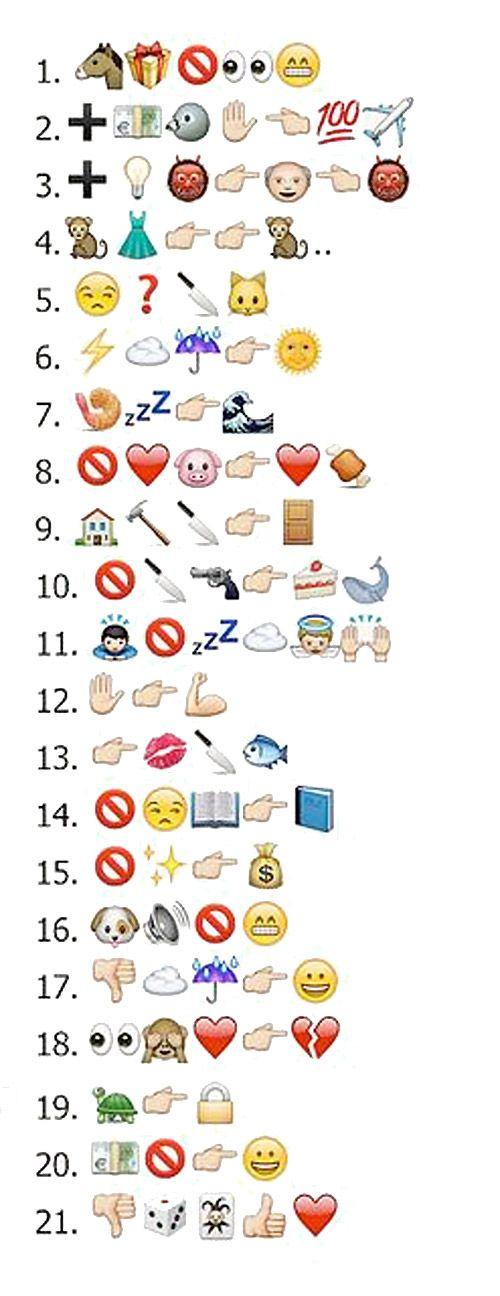 Refranes con los emoticonos de WhatsApp.