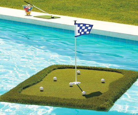 Floating Golf Green - https://tiwib.co/floating-golf-green/ #GiftsForMen, #PoolWater #gifts #giftideas #2017giftideas #xmas