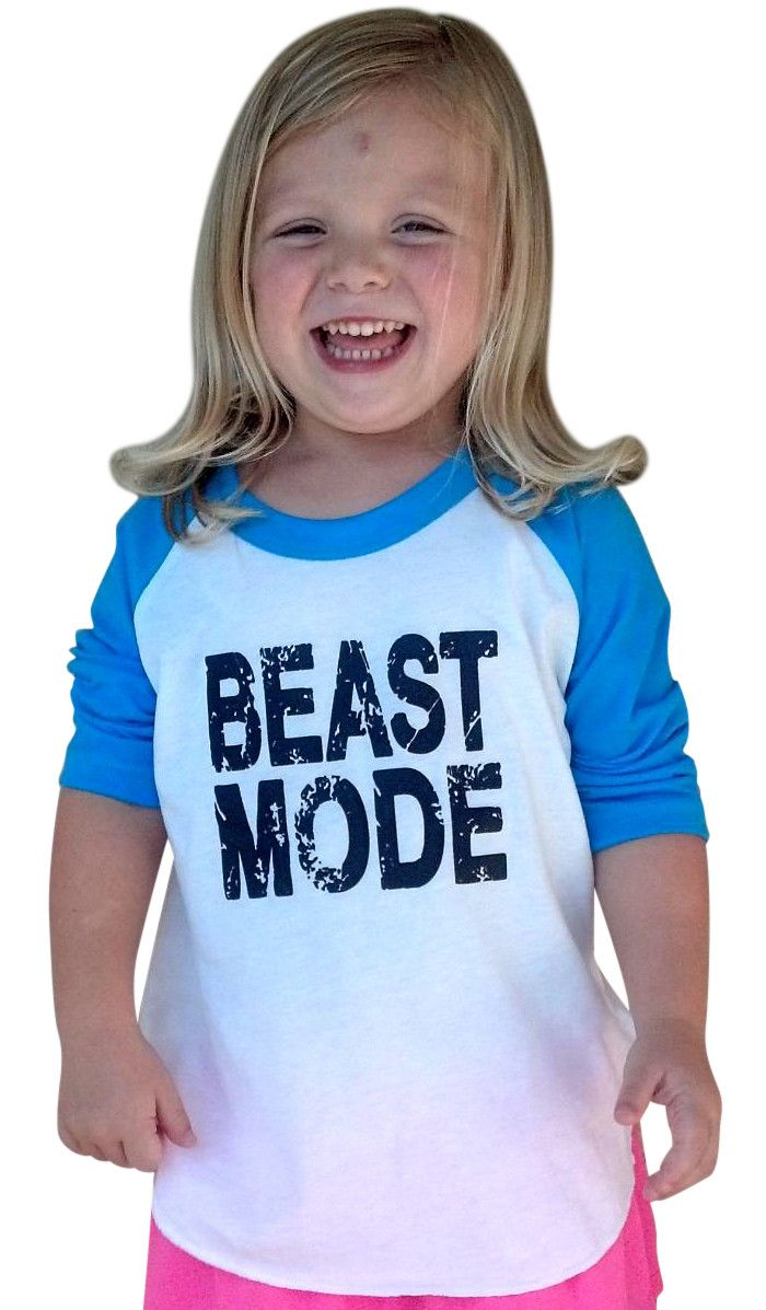 Beast Mode Long Sleeve Henley Blue