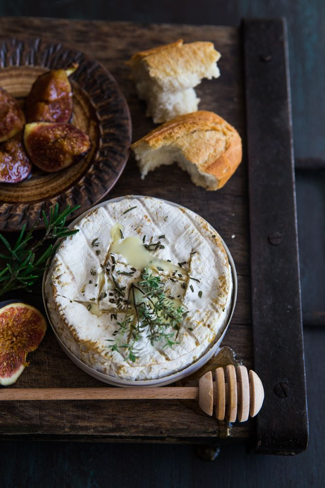 Oven Baked Camembert With Honey Roasted Figs Try Puff's Fig & Blood Orange Port Vanilla Jam on top!