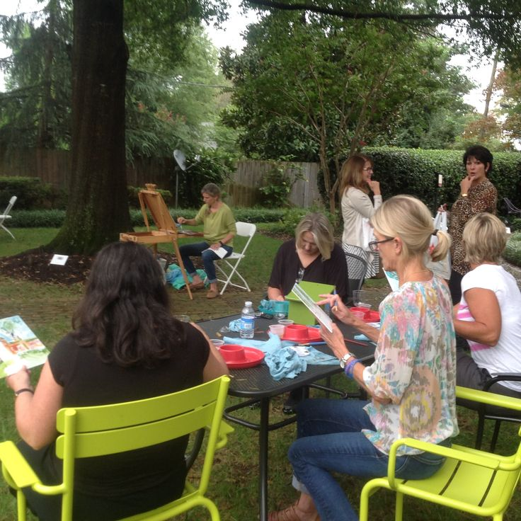 Fun at the RSOL Designer House Plein Air Painting Event in the gardens. Visit www.rsol.org for information about other fun events happening at Designer House through October 10, 2016. #RSOL2016DH