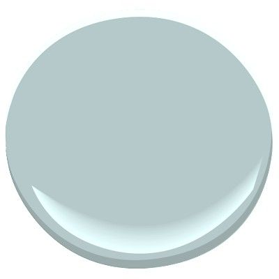 Yarmouth Blue by Benjamin Moore. Soothing blue with just a bit of gray. Stunning in sunlight, soft and cozy in artificial light. Final choice for the master bedroom.