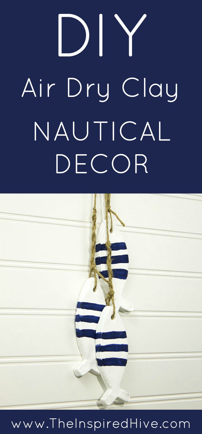 Nautical crafts to make - May Monthly Diy Challenge Air Dry Clay Nautical Decor Clay Craftsclay Projectsdiy