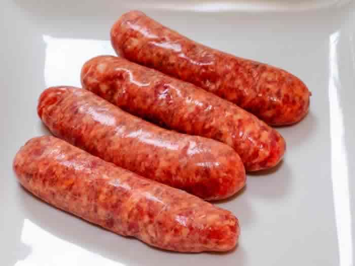 Mexican Chorizo sausages - 5 lbs beef / pork ground, 6 cloves garlic, 1 can Enchilada sauce, 1 onion chopped, 3 eggs, 3 slices bread in pcs, 2 tsp Mex Oregano, 4 tbs Chili powder, 1 tsp cumin, 4 tbs Vinegar, 2 cups chopped cilantro - Mix well and insert in casing ( or make sausage bars, roll in wax paper, freeze) You can make burger patties from this as well.