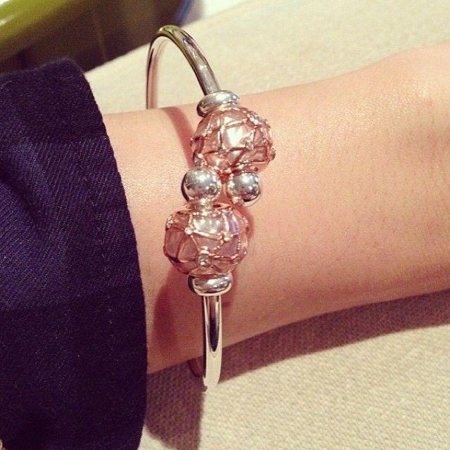 Persona Charm Bracelet: Rose Gold Comet Cuffed Persona Bangle