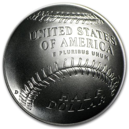 2014-D U.S. Mint Baseball Hall of Fame Half Dollar Coin - Box and Certificate