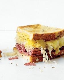 Monte Cristo sandwich.Deli Reuben, Food, Rye Bread, Hot Sandwiches, Martha Stewart, Sandwich Recipes, Sandwiches Recipe, Reuben Sandwiches, Grilled Sandwiches