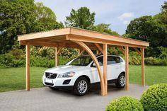 carport autoporté en bois pour abriter sa voiture avec style