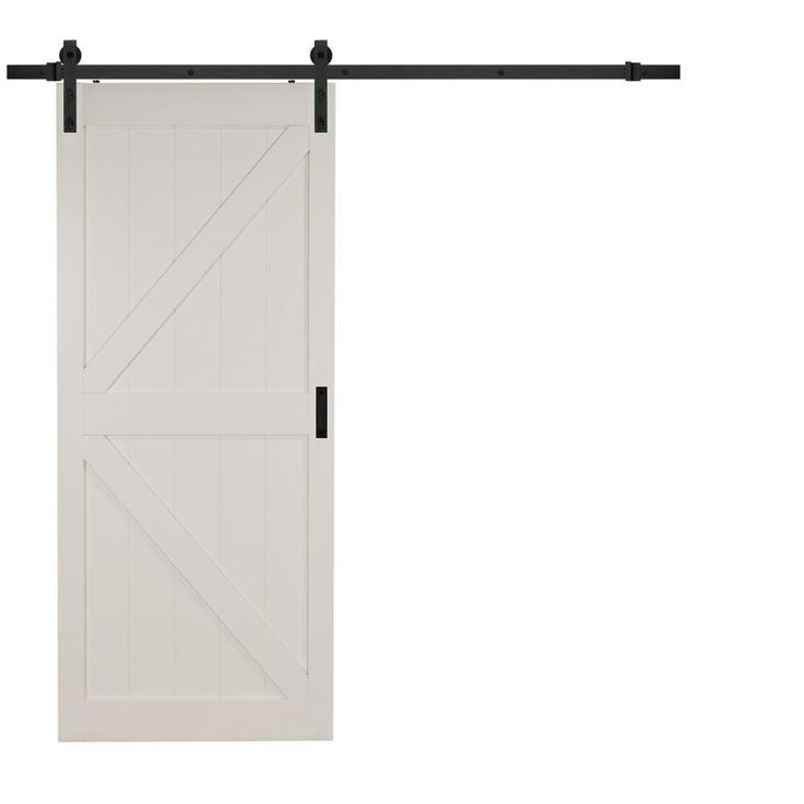 Reliabilt Off White K Frame Soft Close Barn Door Common