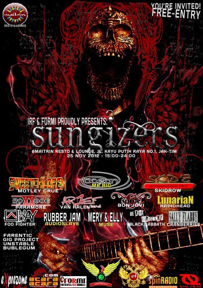 "IRF and FORMI - Proudly Presents ""SUNGIZERS"" At Maitrin Resto and Lounge, Nov`25th`2012"