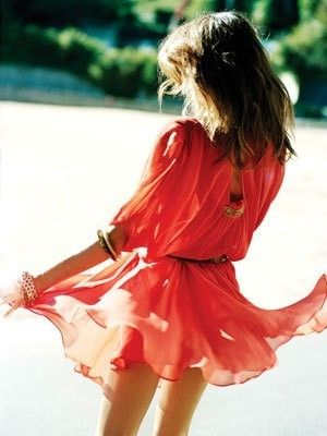 ::So pretty and flowy:: woman's fashion, glamour, coral, style, design, diva, spring,