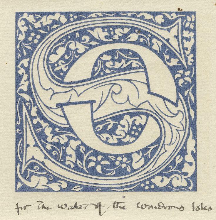 Trial pull of Kelmscott Press woodcut initials.
