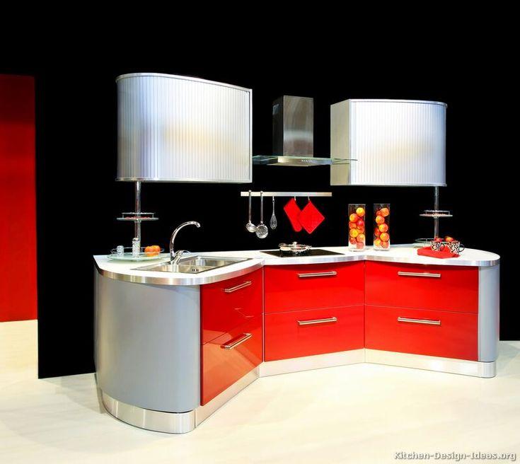 Modern Designer Kitchen Cabinets 165 best red kitchens images on pinterest | kitchen ideas, kitchen