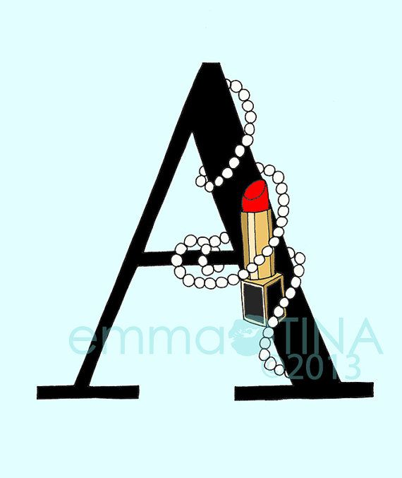 Lipsticks and Pearls Letter, I can put in my bathroom.