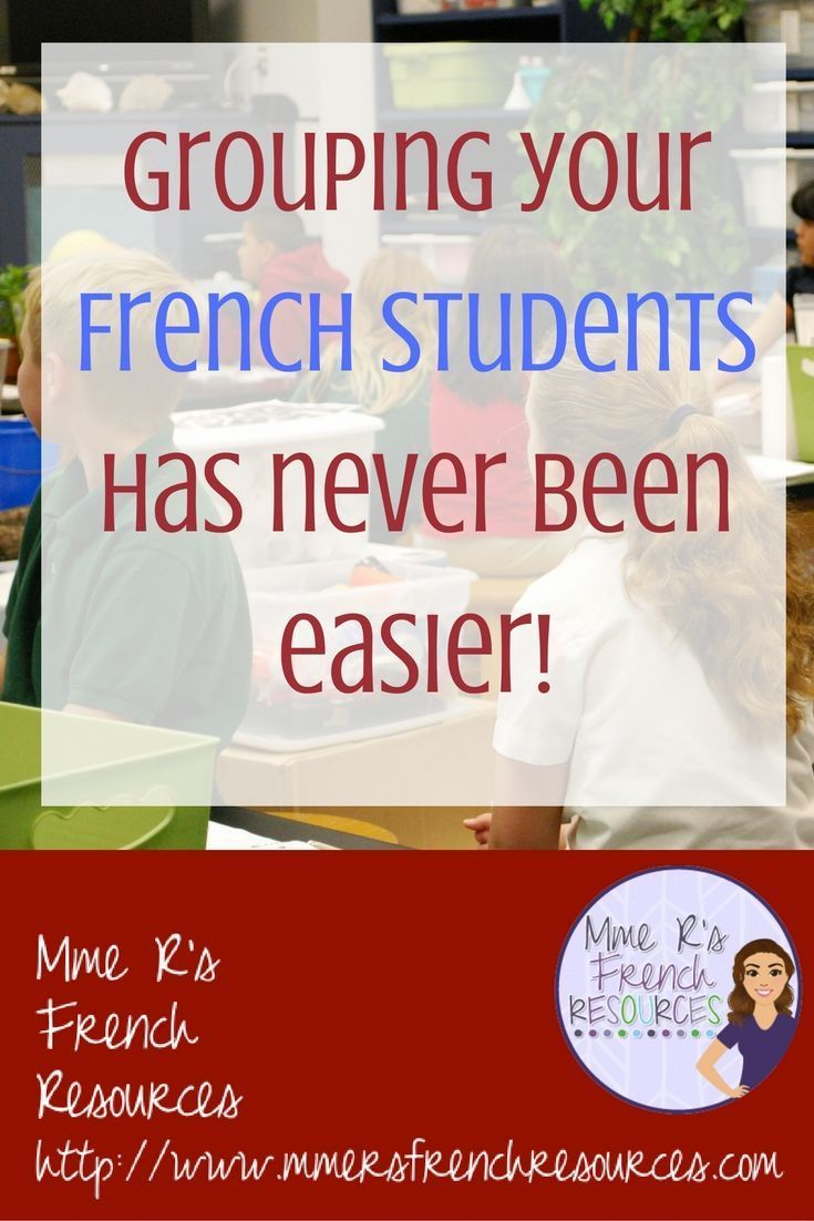 Do you need a super-easy way to group your French class in groups of 2, 3, 4, or 5? These cards are great for grouping while presenting vocabulary and culture effortlessly. There's even a handy tip for how to make your first day of school seating chart.  Click here to learn about this awesome time-saver!