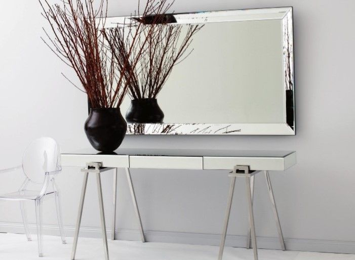 Mirrored Trestle Table