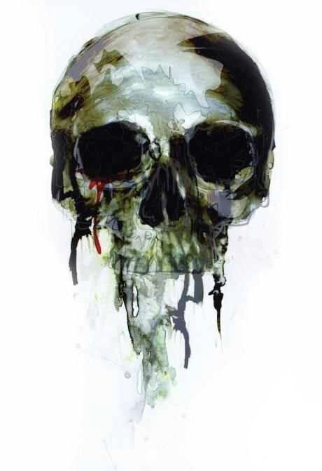Skull watercolor