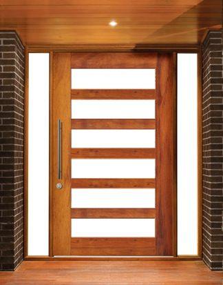 1.2m pivot timber entry door - dark oak stain